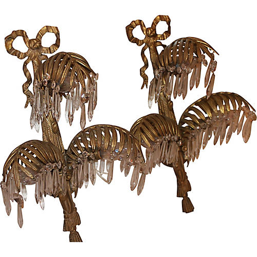 Maison Bagues Bronze Sconces, Pair