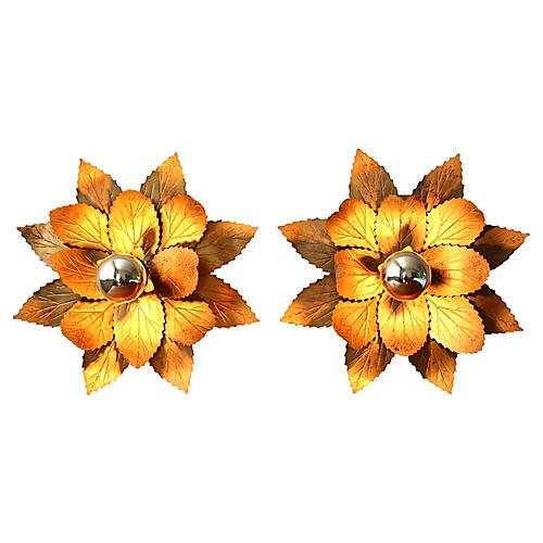 1960s Willy Daro Modernist Sconces, Pair