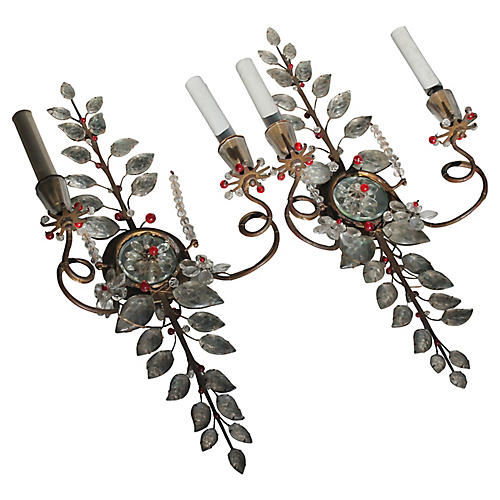 C. 1910 Maison Bagues Sconces, Pair