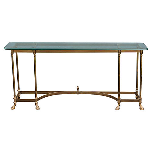 La Barge Brass Hoofed Console Table '60