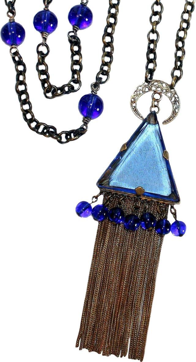 1920s Czech Tassel Necklace