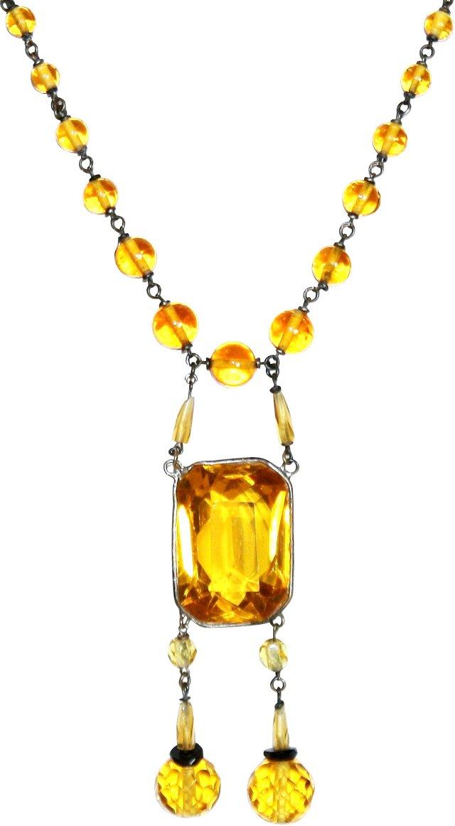 Deco Czech Glass Necklace