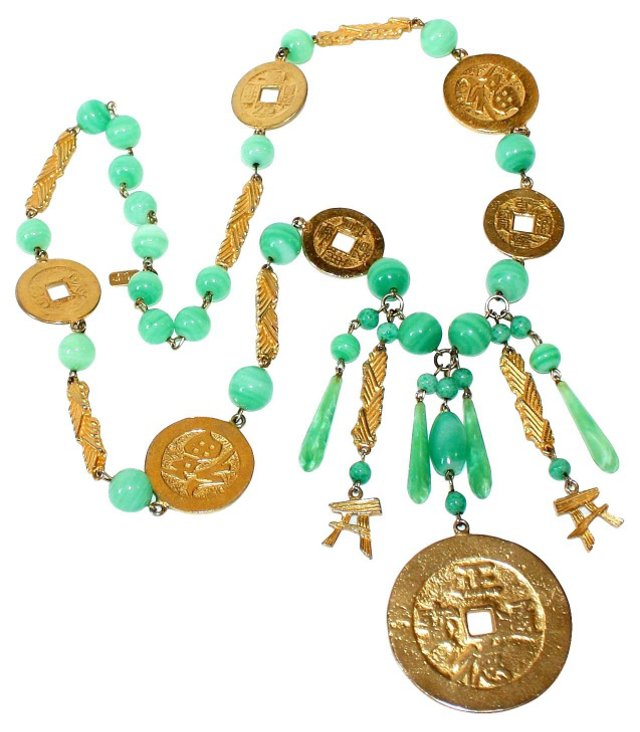 Kenneth Lane Asian-Motif Necklace