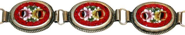 1930s Floral Micro-Mosaic Bracelet