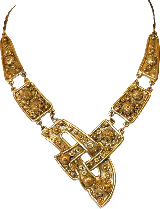 1940s Etruscan-Style Necklace
