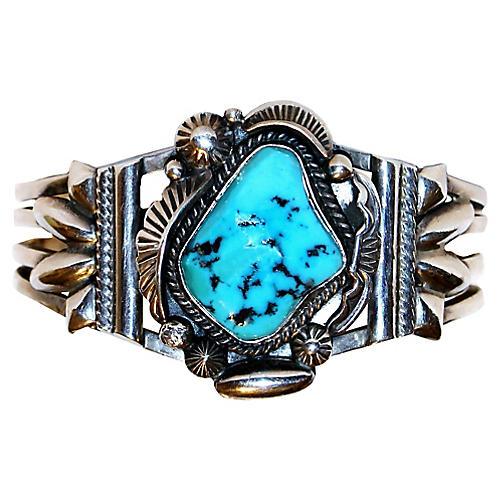 Sterling & Turquoise Nugget Bracelet