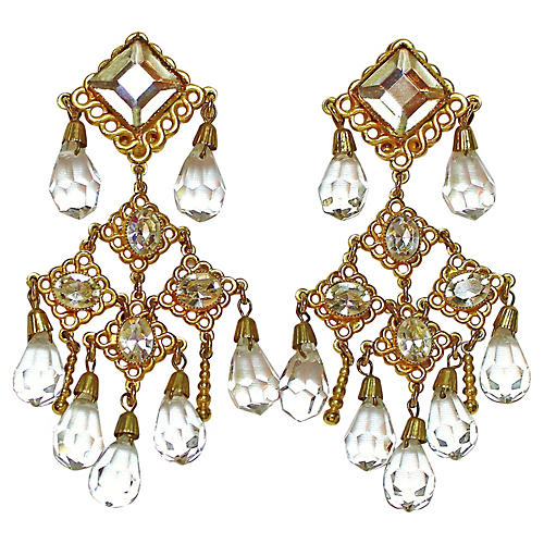 deLillo Crystal Chandelier Earrings