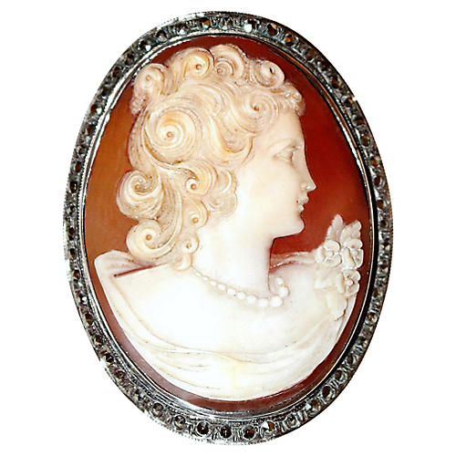 Sterling Silver Cameo Brooch