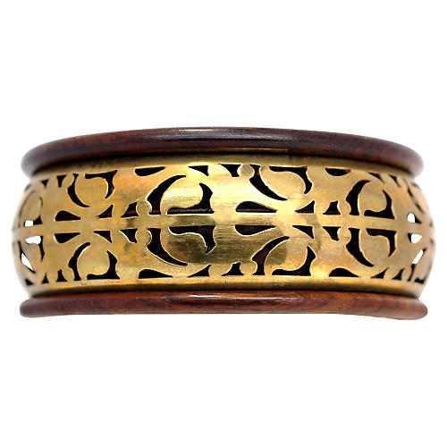 Wood & Brass Bangle