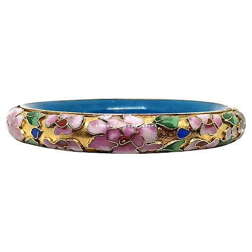 Chinese Floral Cloisonné Enamel Bangle