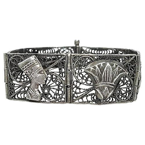 Sterling Egyptian Revival Bracelet