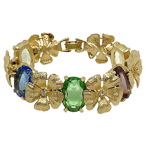 ART Jeweled Flower Bracelet