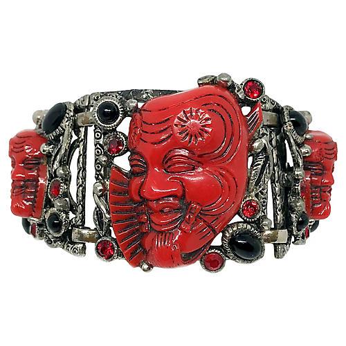 Selro Noh Mask Bracelet