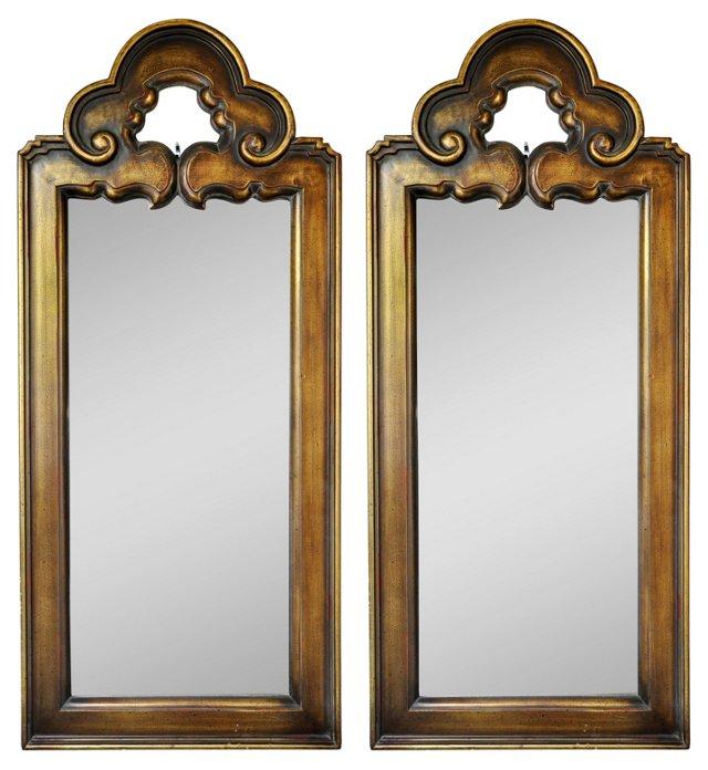 Scroll Mirrors, Pair