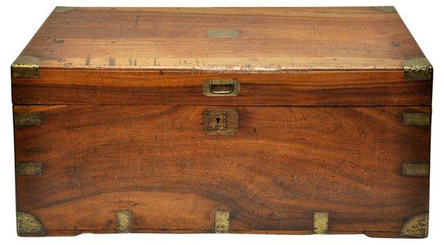 Antique English Trunk