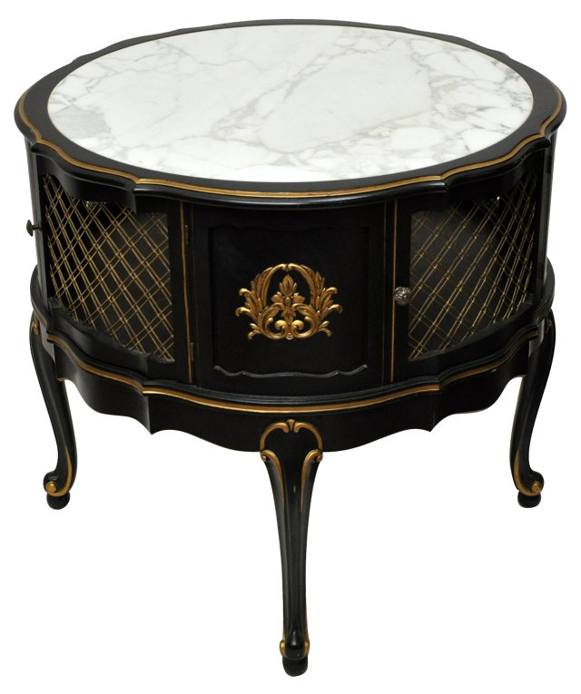 French Marble-Top Table