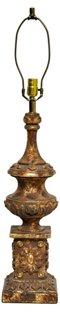 Gold Chalkware Lamp