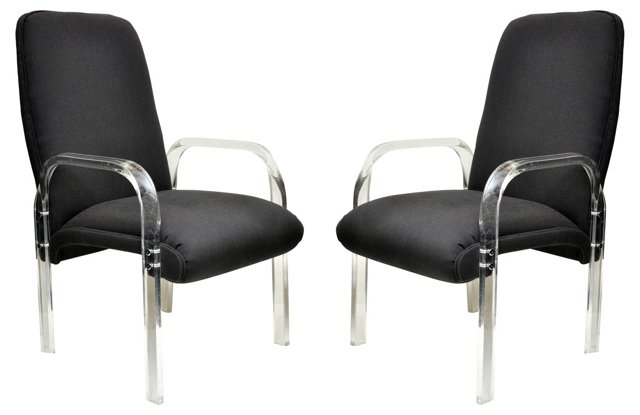 Lucite Chairs,  Pair