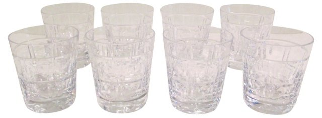 Crystal Double Old-Fashioneds, S/8