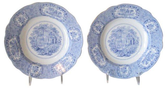 Ridgway Oriental Soup Bowls, Pair