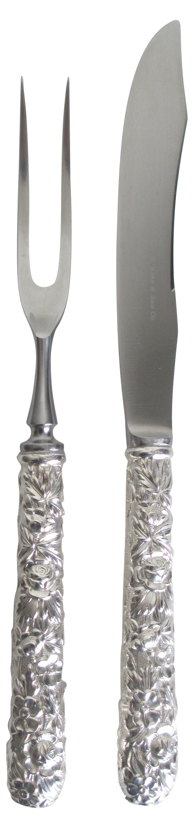 S.Kirk & Son Sterling Carving Set, 2 Pcs