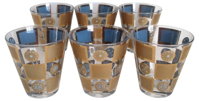 Cocktail Glasses, S/6