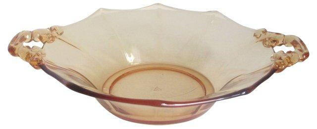 Peach Cambridge Glass Dish