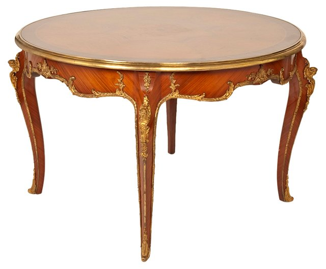19th-C. Louis XV-Style Library Table
