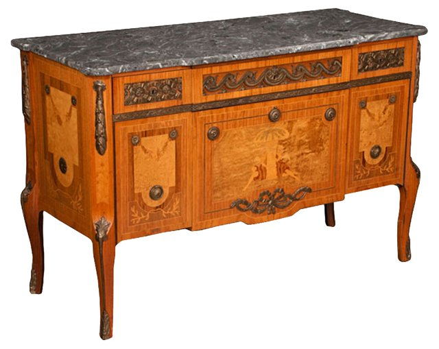 Louis XVI-Style Marble-Top Commode