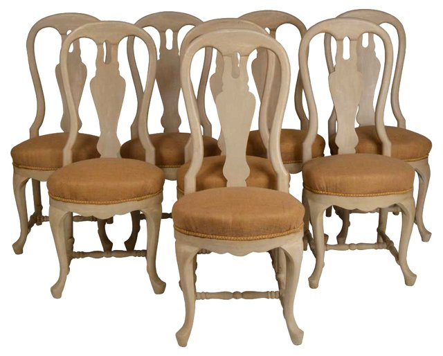 Swedish Dining Chairs, S/8