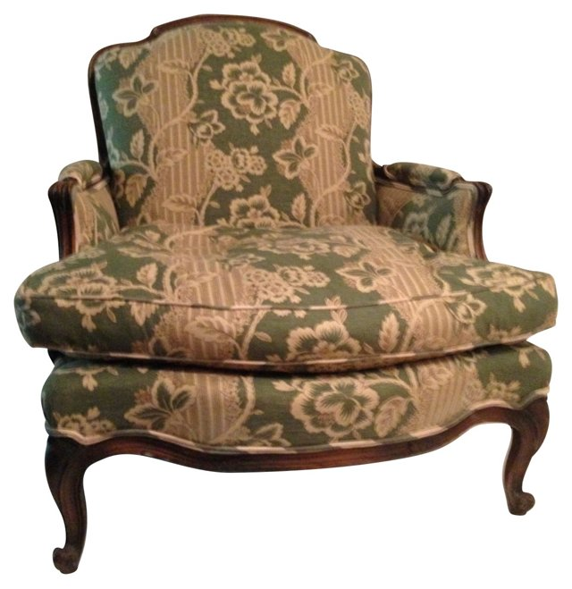 French Upholstered Bergère