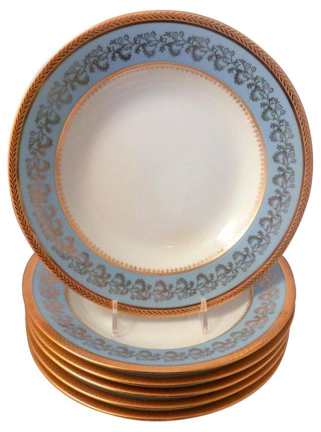 Limoges Rim Soup Plates, Set of 6