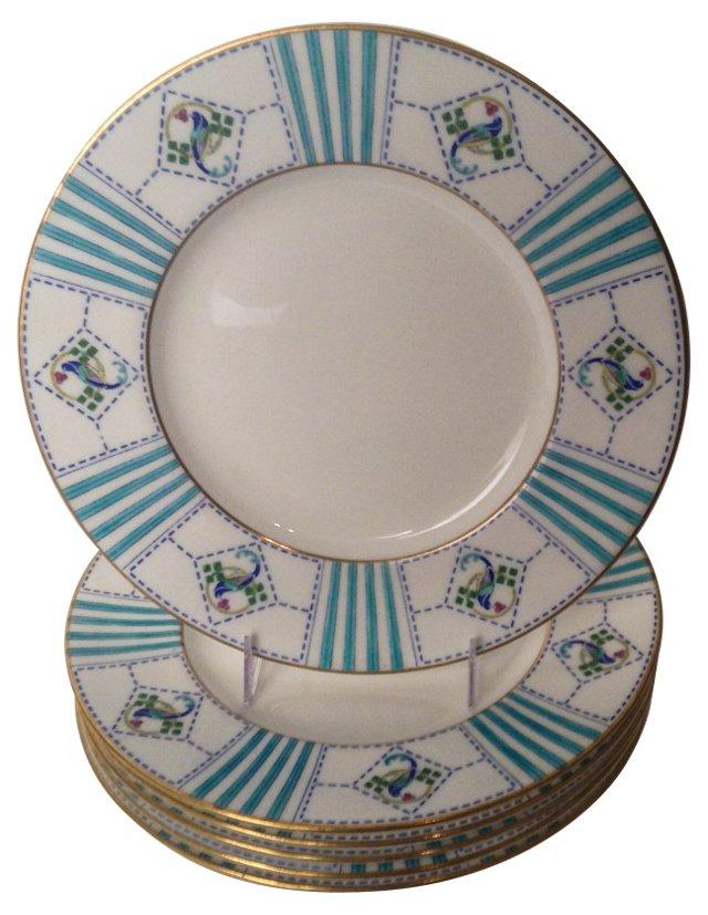 Art Deco Plates by Minton, Set of 6