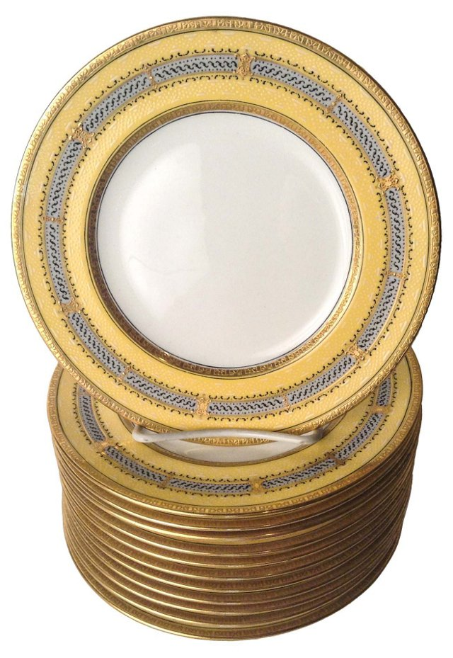 Tiffany  Dessert Plates, Set of 12