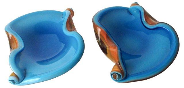 Murano Art Glass, Pair