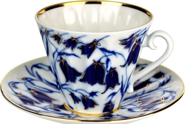 Russian Floral Cup & Saucer