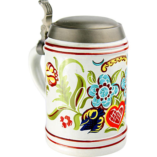 Floral Beer Stein/Canister