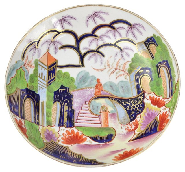 19th-C. English Imari Bowl