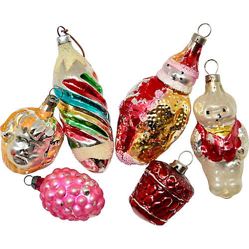 Figurative Ornaments, S/6