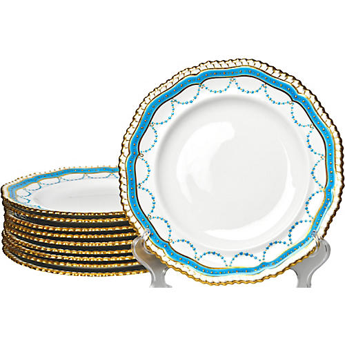 Antique Spode Plates, S/10
