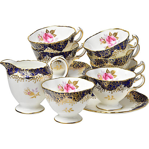 Hammersley Coffee Set, Svc for 6