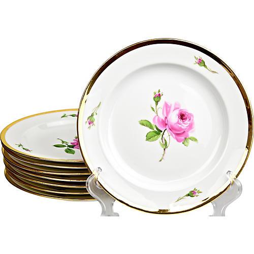 Antique Meissen Plates, S/8