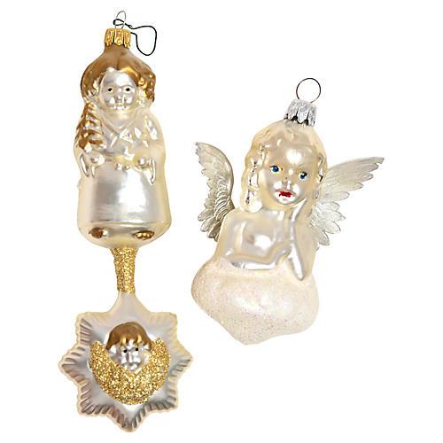 Angel Ornaments, Pair