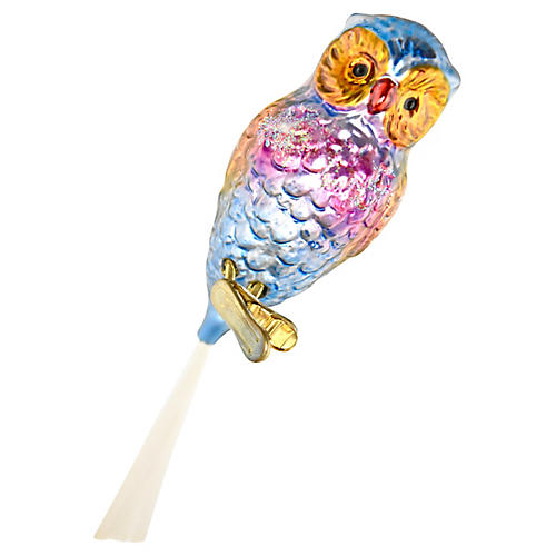 Large Owl Clip-On Ornament