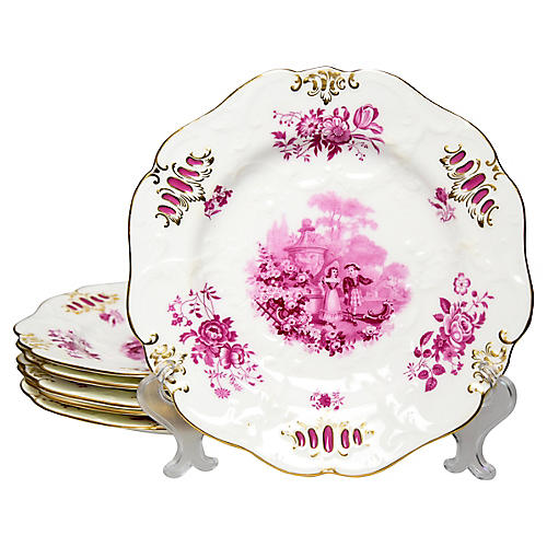 Minton gilded Plates, S/6