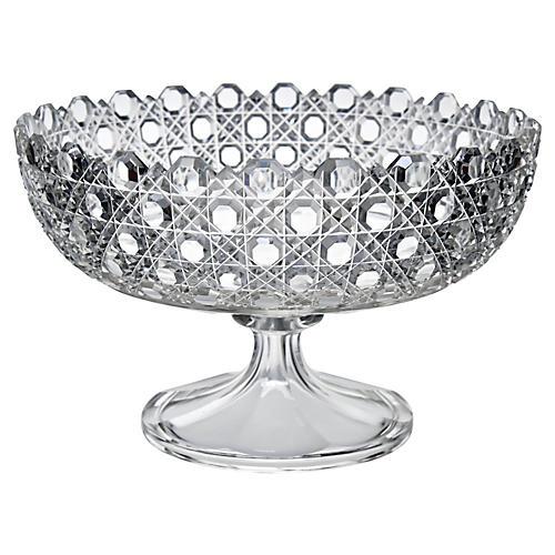 19th-C. Cut-Crystal Bowl