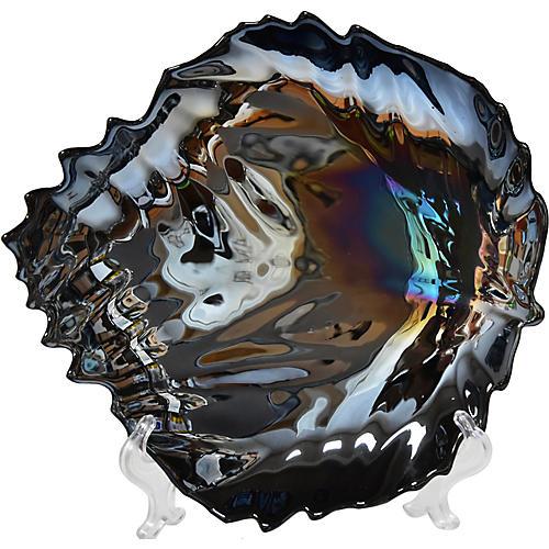 Murano Iridescent Glass Plate