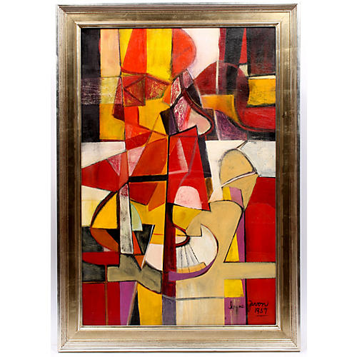 Irene Zevon Abstract Painting Comp 57