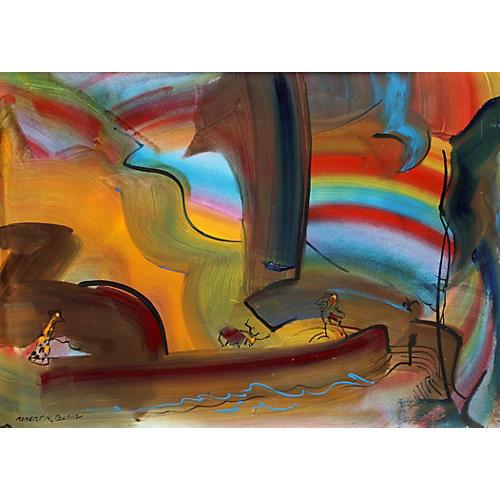 Robert Blair Safari Fantasy Painting