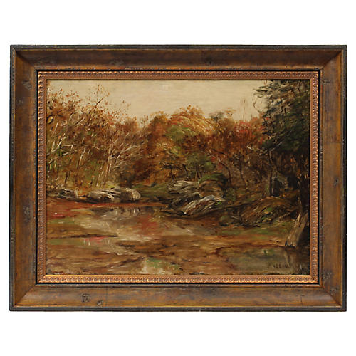Country Stream by Charles Kaelin, C.1900